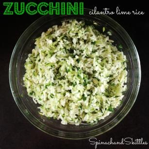 zucchini cilantro lime rice